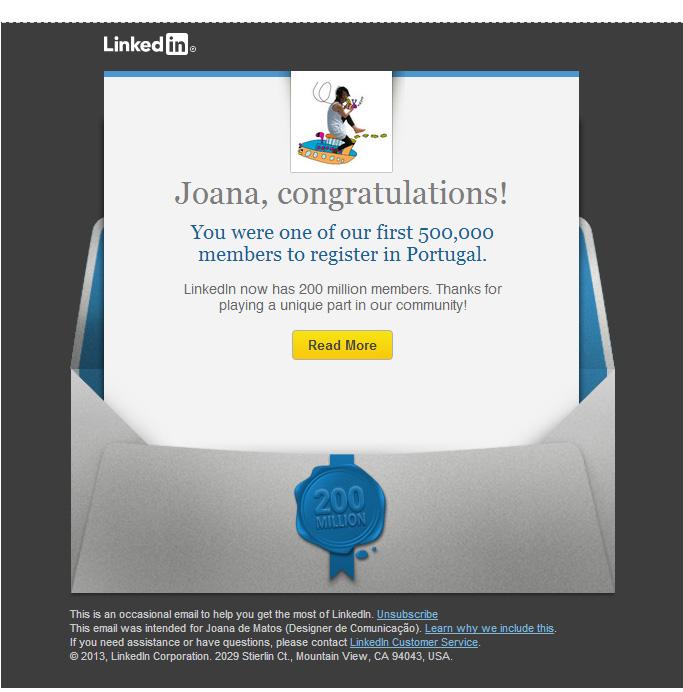 Linkedin Award Joana de Matos