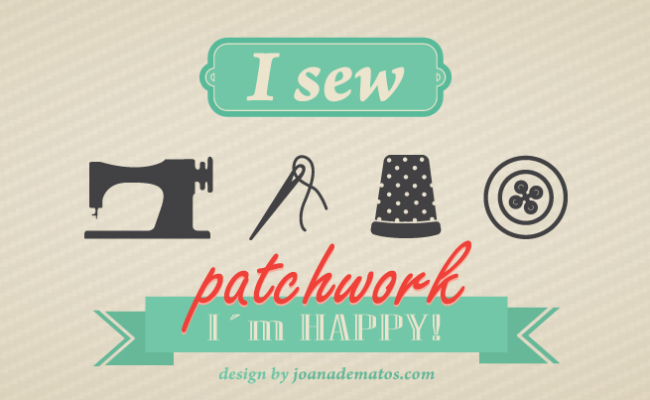 """i sew, i'm happy"""